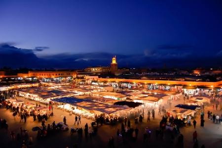 Marrakesh by Night, Famous Djemaa el-Fna Square
