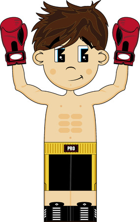 Cute Cartoon Boxer