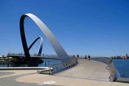 Photo for Western Australia Perth - Elizabeth Quay Bridge - Royalty Free Image