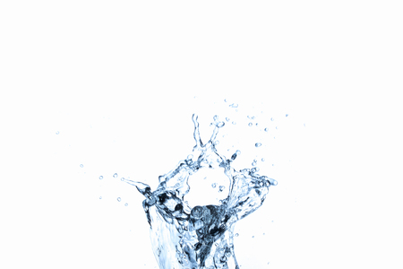 Photo pour Water splash in glass isolated on white background - image libre de droit