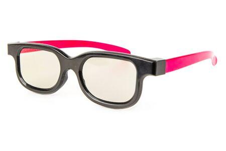 Photo pour 3D cinema glasses isolated on a white background. The concept of entertainment, technology - image libre de droit