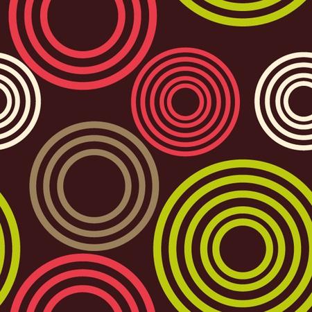 Geometric seamless pattern of circles