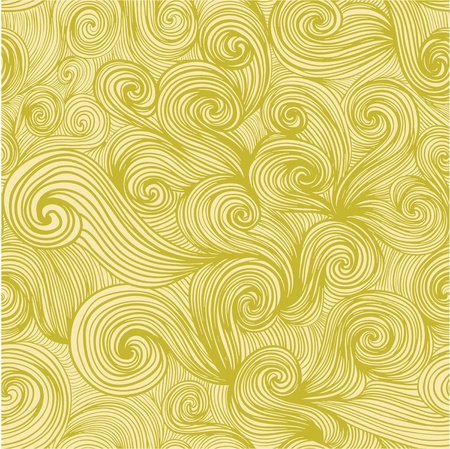 Illustration for seamless abstract hand-drawn pattern, looks like hair or waves - Royalty Free Image