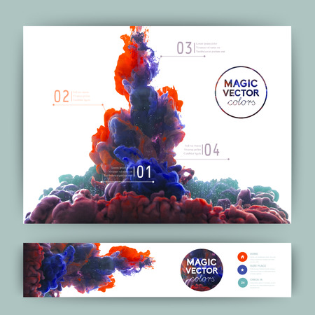 Illustration pour Vector abstract cloud. Ink swirling in water, cloud of ink in water isolated on white. Abstract banner paints. Holi.Banner for your design - image libre de droit