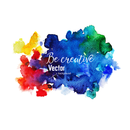 Vector watercolor background. Colorful bright abstract texture.