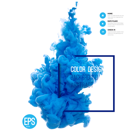 Illustration pour Vector abstract cloud. Ink swirling in water, cloud of ink in water isolated on white. Abstract banner paints. Holi. Liquid ink. Background for banner, card, poster, poster, identity,web design.Juice. - image libre de droit