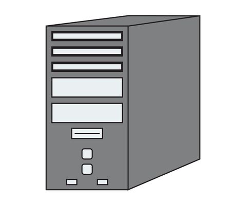Pc Computer Tower Vector Icon