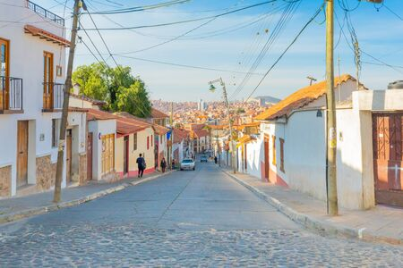 Photo pour Sucre Bolivia September 2 Recoleta district with its colonial buildings is the oldest part of the city. Shoot on September 24, 2019 - image libre de droit