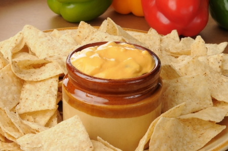 Salsa con queso with tortilla chips