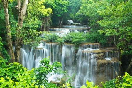 Waterfall in national park of Thailand