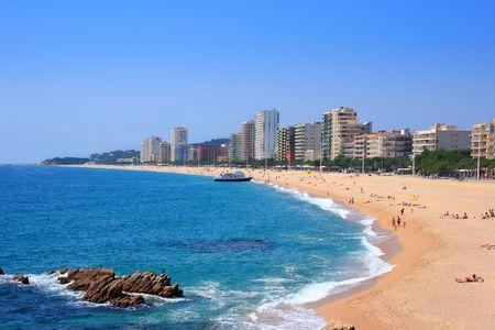 Platja d'Aro beach, a well known tourist destination (Costa Brava, Catalonia, Spain)