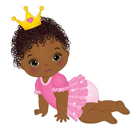 Ilustración de Cute baby girl. - Imagen libre de derechos