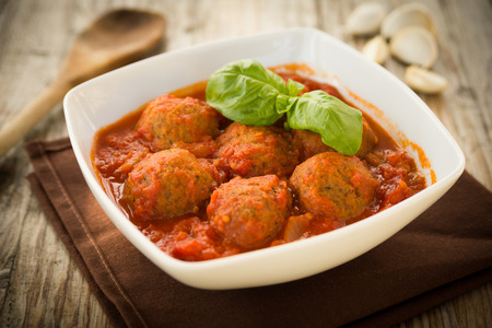 Beef meatballs with tomato sauce