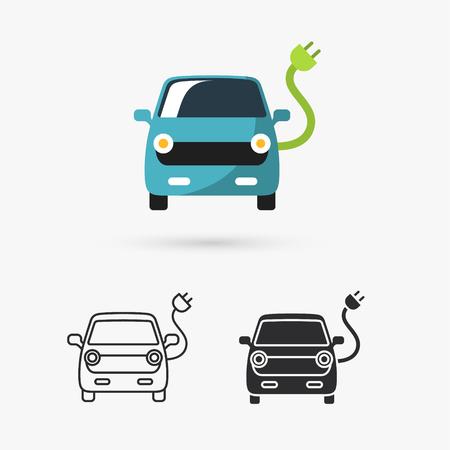 Illustration pour electric car icon - image libre de droit