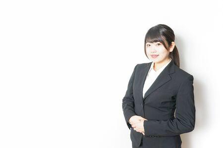 Foto de job-seeking student in suit - Imagen libre de derechos