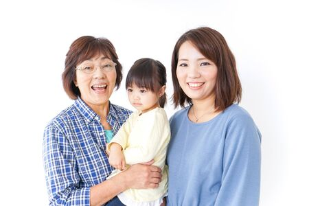 Photo pour Child, mother, and grandmother - image libre de droit
