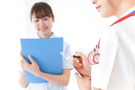 Photo pour Nurses meeting image - image libre de droit