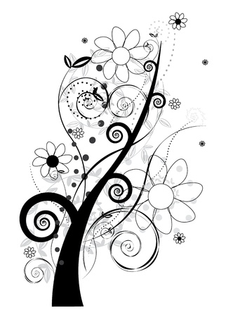 Floral design-vector
