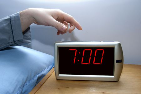switch off an alarm clock