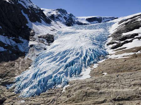 Photo pour Glacier Engabreen, Norway - image libre de droit