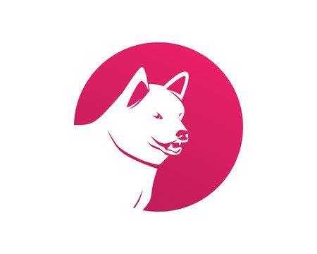 Dog  animal symbol pets shop template icons.