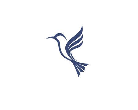 Ilustración de Hummingbird icon logo and symbols template vector - Imagen libre de derechos