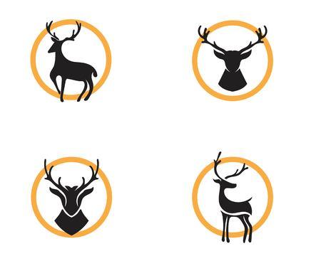 Ilustración de Deer Logo Template vector icon illustration design - Imagen libre de derechos