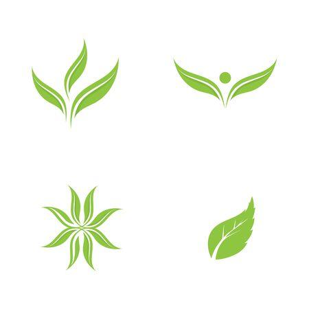 Illustration pour Logos of green Tree leaf ecology nature element vector - image libre de droit