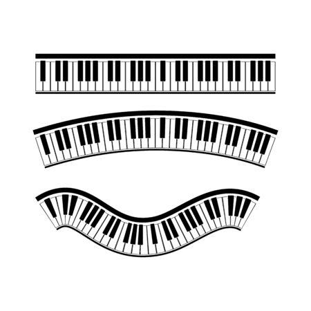 Illustration pour Keyboard piano vector Musical instrument illustration design  - image libre de droit