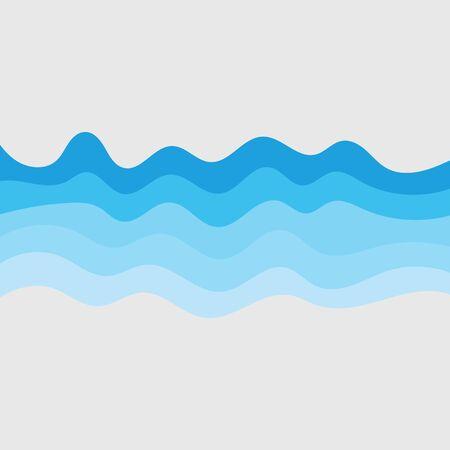 Illustration for Water wave vector illustration design background - Royalty Free Image