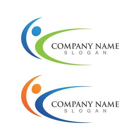 Ilustración de Healthy People logo designs template - Imagen libre de derechos