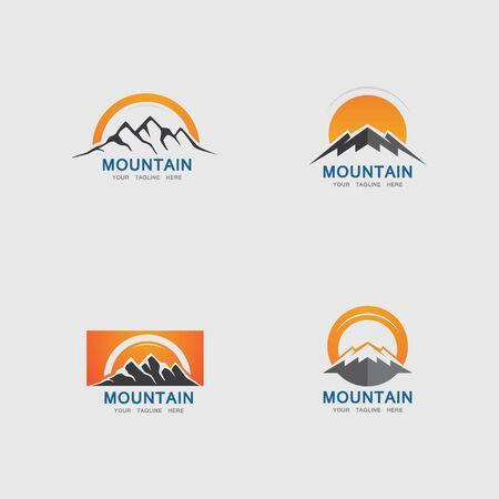 Illustration pour Mountain icon Logo Template Vector illustration design - image libre de droit
