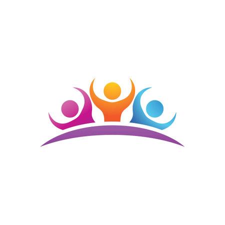 Illustration pour Community, group family and social logo - image libre de droit