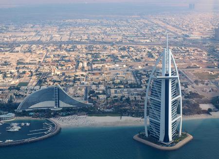 Burj Al Arab and Jumeirah Beach in Dubai