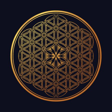 Illustration for Flower of Life - intersecting circles forming. - Royalty Free Image