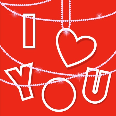 I love you .Creative vector card