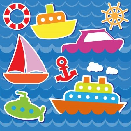 Marine transport stickers.