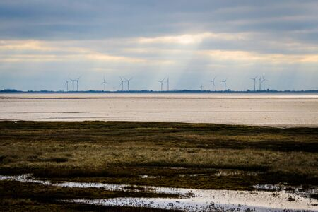 Photo for wind mills on the horizon - Royalty Free Image