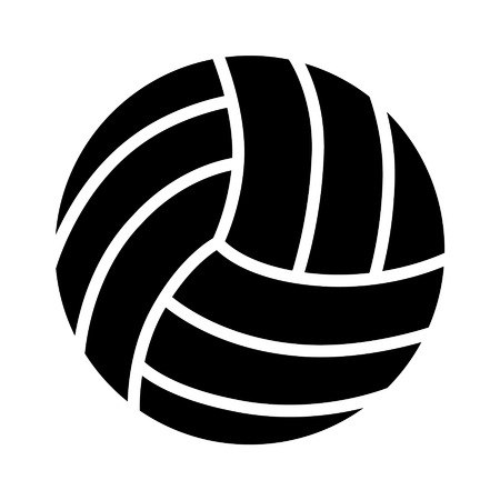 Volleyball ball flat icon for sports apps and websites