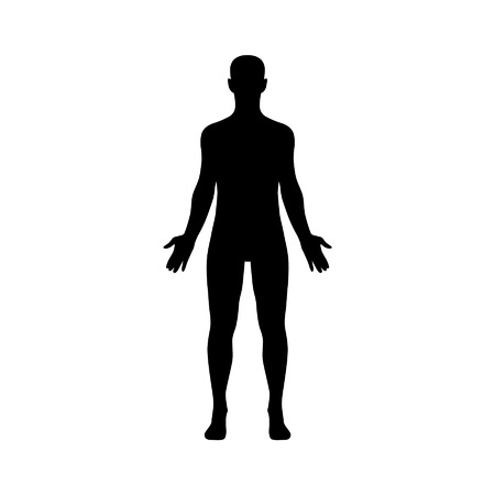 Male human body flat icon for app and website