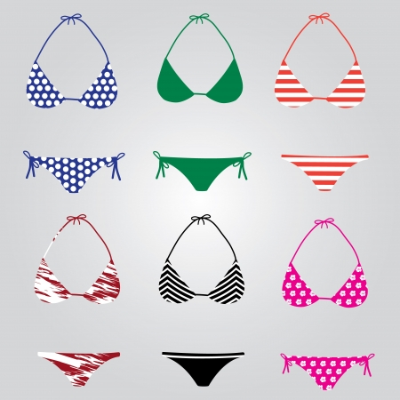 bikini swimsuit collection eps10