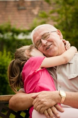 Photo pour Love - grandparent with grandchild portrait - image libre de droit
