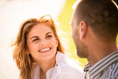 Photo pour Couple feeling good together - image libre de droit