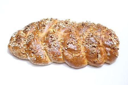 plaited yeast bun