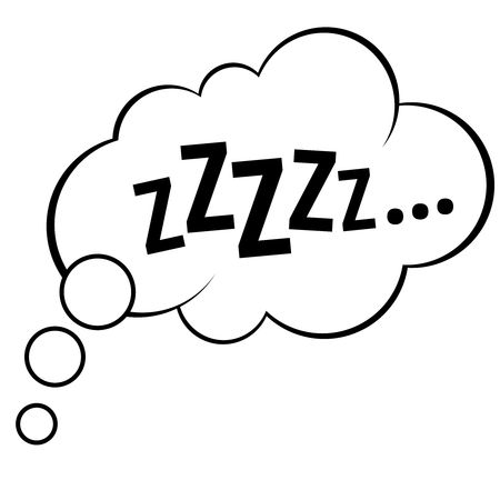 Illustration pour Sleep comic bubble zzzzz vector illustration - image libre de droit