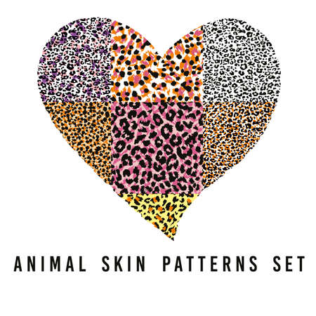 Ilustración de set of animal skin patterns - Imagen libre de derechos