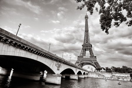 Eiffel tower view from Seine river