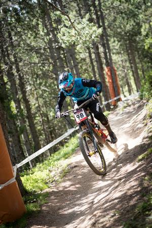 14 DE JULIO DE 2018 EN VALLNORD, LA MASSANA, ANDORRA. COPA DEL MUNDO UCI DE MONTAIN BIKE DOWNHILL 2019