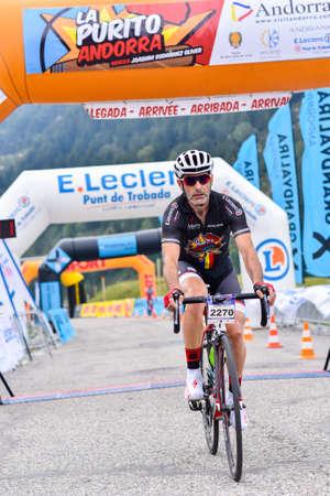 Els Cortals de Encamp, Andorra : Agust 6 2017 : Cyclists in La Purito 2017 in Andorra. Amateur race in Andorra.