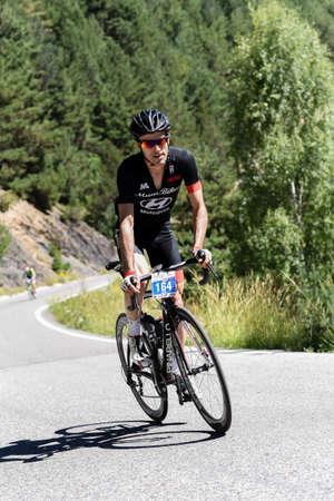La Massana, Andorra : 2017 July 16 : Cyclists on the start in Volta Als Ports D Andorra 2017 in Andorra. Amateur race in Andorra.